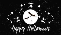 Happy Halloween. Card design holiday. Handwritten modern lettering scratched Stock Illustration