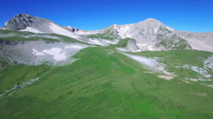 Aerial view above mountain top Stock Footage