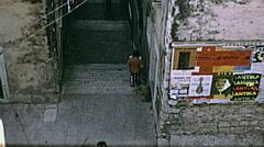 Dubrovnik, Yugoslavia 1972: people walking downtown Stock Footage