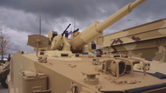 The export version of the BMP-3 sand-colored Stock Footage