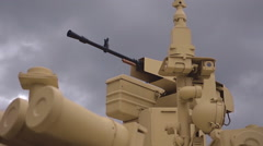 Large-caliber, remote controlled, machine gun and other military equipment Stock Footage