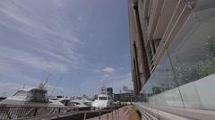 Marina. Superyachts. Apartments. City Stock Footage
