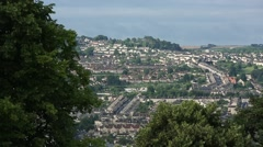 View of the City of Bath Stock Footage