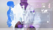 Skeleton - Graphics - Touch Screen - High Tech - Data - Futuristic Stock Footage