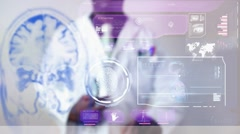 Tumour - Graphics - Touch Screen - High Tech - Data - Futuristic Stock Footage