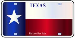 Texas State Flag License Plate Piirros