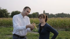 The student agronomist in practice. Stock Footage