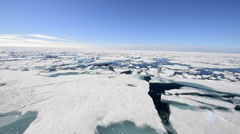 Sails through the sea ice in the Arctic Stock Footage