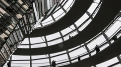 The dome of the Reichstag Building  Stock Footage