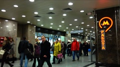 People returning home from work. Moscow metro. Stock Footage