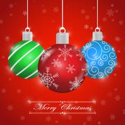 Merry Christmas background with ornament ball Stock Illustration