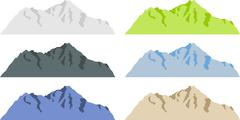 Mountain silhouettes Stock Illustration