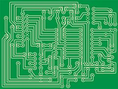 Printed Circuit Board Stock Illustration