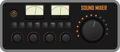 Sound mixer Stock Illustration