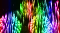 Stylized fireworks Stock Footage