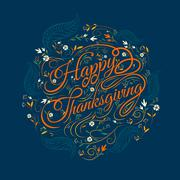 Happy  Thanksgiving, autumn , leaves Background, vector Illustration Stock Illustration