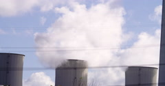Coal fired power plant at Gelsenkirchen, Germany Stock Footage