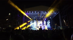 Concert,dance music in performance Stock Footage