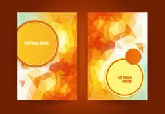 Triangular orange fall season theme Stock Illustration