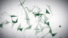 Green Digital Plexus Glow Dots Backgrounds Stock Illustration