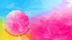 Low polygonal bright color Stock Illustration