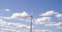 Wind turbine medium shot,  Germany Europe Stock Footage