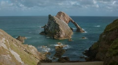 1k Timelapse - Bow Fiddle rock, Portknockie Stock Footage