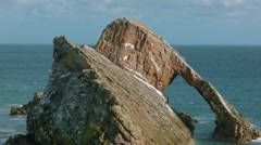 Bow Fiddle rock, Portknockie Stock Footage