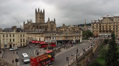 View of Bath city centre Stock Footage