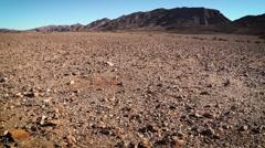 Wide panning shot of Namib Desert landscape Stock Footage
