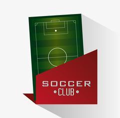 League of soccer sport design Stock Illustration