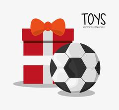 Soccer ball toy and game design Stock Illustration