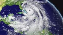 Sattelite view of hurricane Matthew Stock Footage