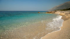 Ionian sea coastline in Albania, near Saranda city Stock Footage
