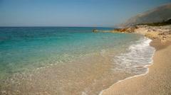 Ionian sea coastline in Albania, near Saranda city Stock Footage