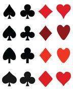 Symbols on playing cards Stock Illustration