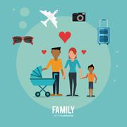 Graphic of Family design , vector illustration Stock Illustration