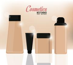 Design of Cosmetics and Make up Stock Illustration