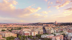 Rome city skyline timelapse from day to night Stock Footage