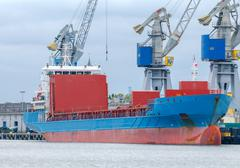 Gdansk. Sea port. Stock Photos