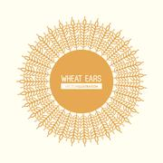 Wheat ears design, farm and agriculture concept, ve Piirros