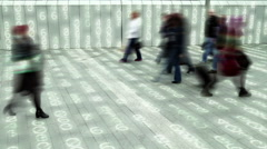 Living in a data matrix city. Stock Footage