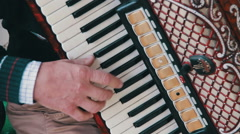 The Musician Plays the Accordion Stock Footage