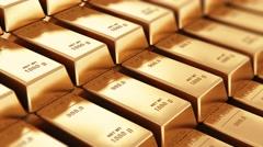 Gold ingots Stock Footage