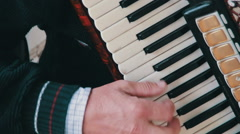 Piano Accordion Musician Stock Footage