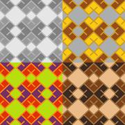 Seamless patterns of squares Stock Illustration