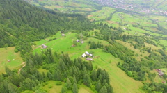 Aerial video. house in the mountains Stock Footage