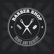 Barber shop design. hair salon. Stylist icon, vector illustration Stock Illustration