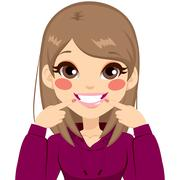 Beautiful White Smile Girl Stock Illustration