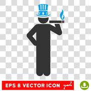 American Capitalist Eps Vector Icon Stock Illustration